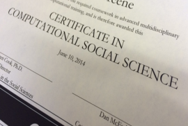 paper certificate for completing the computational social science program