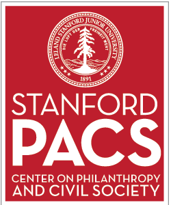 logo with Stanford seal (white tree in a circle) on a red background