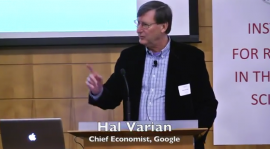 hal varian lecturing at podium