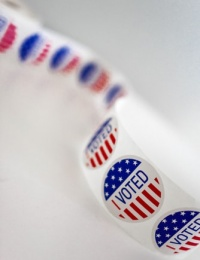 "photos of ""I voted"" stickers"
