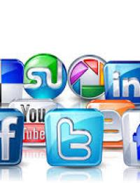logos from social media companies like facebook and twitter